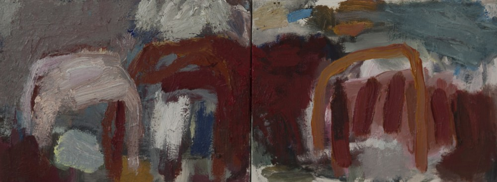 golden gully(diptych) by Ana Young